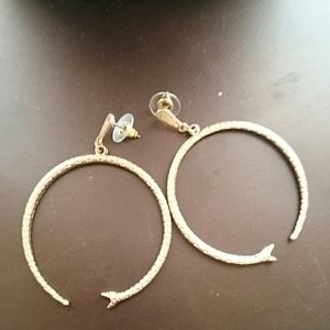 Free People boho open mouthed snake earrings
